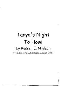 Tonya's Night To Howl