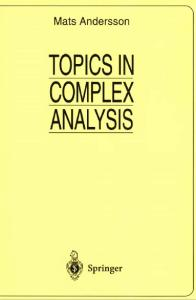 Topics in Complex Analysis (Universitext)