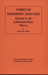 Topics in Harmonic Analysis, Related to the Littlewood-Paley Theory