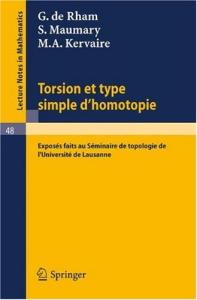 Torsion et Type Simple d'Homotopie