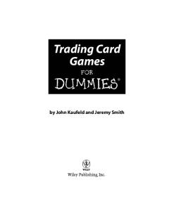 Trading Card Games For Dummies (For Dummies (Sports & Hobbies))