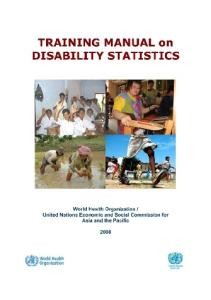 Training Manual on Disability Statistics