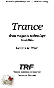 Trance: From Magic to Technology