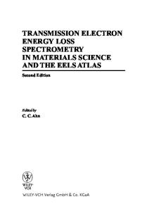 Transmission Electron Energy Loss Spectrometry