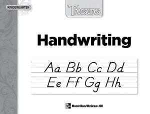 Treasures Handwriting Slant Student Workbook: Kindergarten