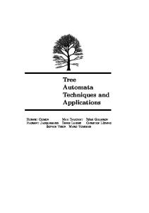Tree Automata Techniques and Applications