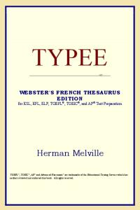 Typee (Webster's French Thesaurus Edition)