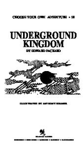 Underground kingdom (Choose Your Own Adventure, No 18)