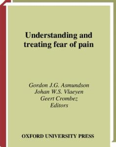 Understanding and Treating Fear of Pain