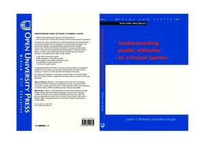 Understanding Public Attitudes to Criminal Justice (Crime and Justice)