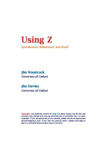 Using Z.Specification,refinement,and proof