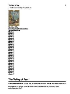 Valley of Fear A Sherlock Holmes Novel
