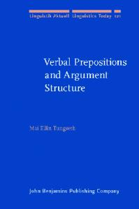 Verbal Prepositions and Argument Structure: path, place and possession in Norwegian (Linguistik Aktuell   Linguistics Today)