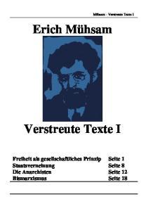 Verstreute Texte 1