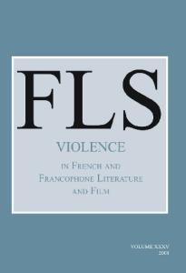 Violence in French and Francophone Literature and Film