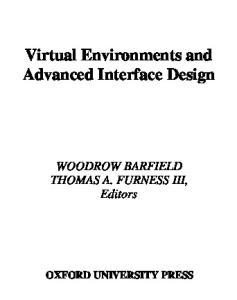 Virtual Environments and Advanced Interface Design