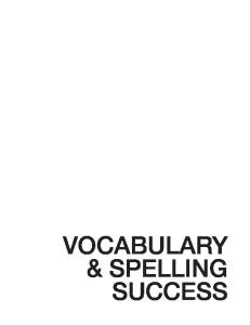 Vocabulary & Spelling Success in 20 Minutes a Day, Trade
