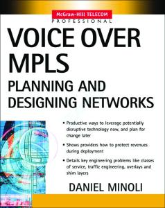 Voice over Mpls: Planning and Designing Networks