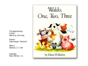 Waldo, One, Two, Three by Hans Wilhelm