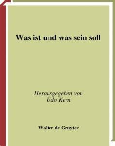 Was ist und was sein soll: Natur und Freiheit bei Immanuel Kant (German Edition)