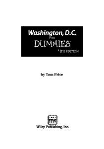 Washington, D.C. For Dummies (Dummies Travel)