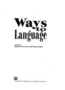Ways to language