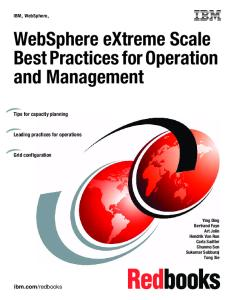 WebSphere eXtreme Scale Best Practices for Operation and Management