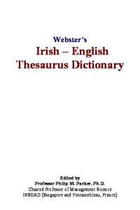 Websters Irish - English Thesaurus Dictionary