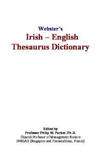 Websters Irish - English Thesaurus Dictionary