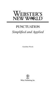 Webster's New World Punctuation: Simplifed and Applied (Webster's New World)