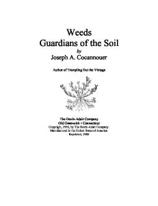 Weeds: Guardians of the Soil