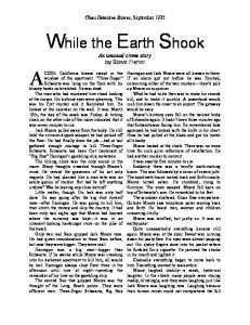While the Earth Shook