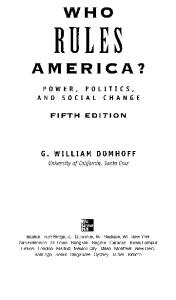 Who Rules America? Power, Politics and Social Change (5th ed)