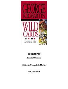Wild Cards 01, Wild Cards