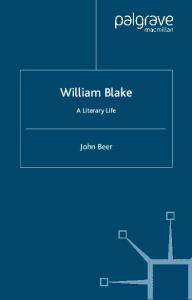 William Blake: A Literary Life (Literary Lives)