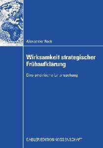 Wirksamkeit strategischer Frühaufklärung: Eine empirische Untersuchung