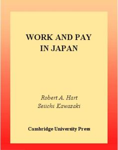 Work and Pay in Japan