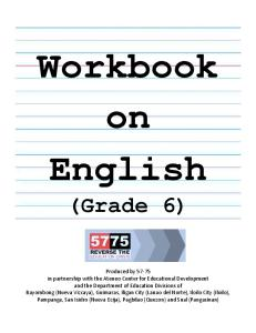 Workbook on English 6
