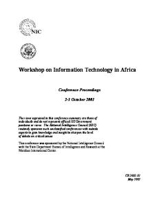 Workshop on Information Technology in Africa