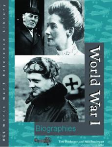 World War I Biographies