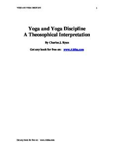 Yoga and Yoga Discipline