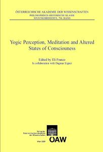 Yogic Perception, Meditation and Altered States of Consciouness