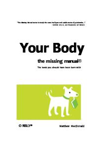 Your Body The Missing Manual