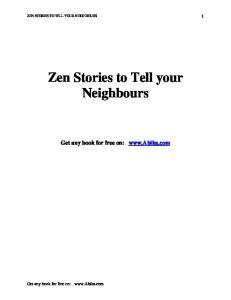 Zen Stories To Tell Your Neighbours